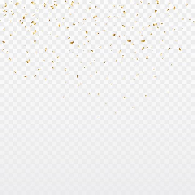 Fundo de confetes ouro Vetor Premium