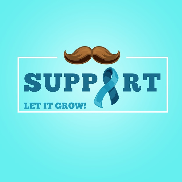 Fundo de conscientização de bigode movember em design plano Vetor grátis
