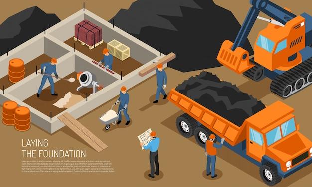 Fundo de construção de canteiro de obras Vetor grátis