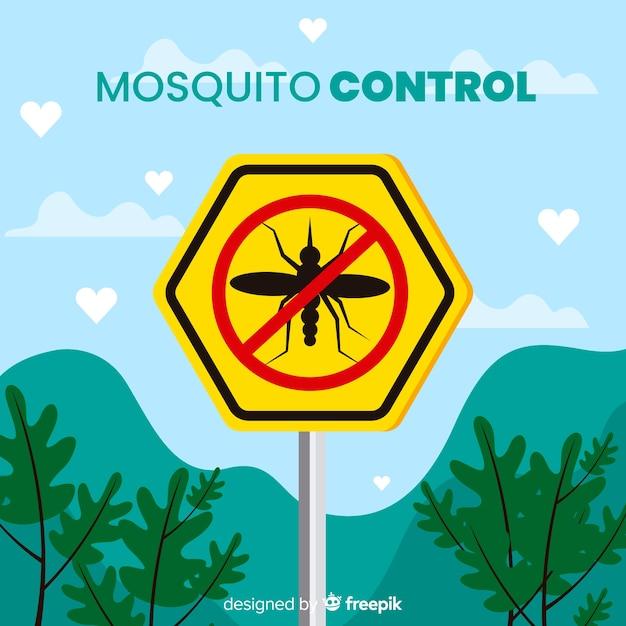 Fundo de controle de mosquito Vetor grátis