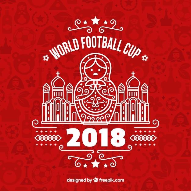 Fundo de Copa do mundo de futebol de 2018 Vetor grátis