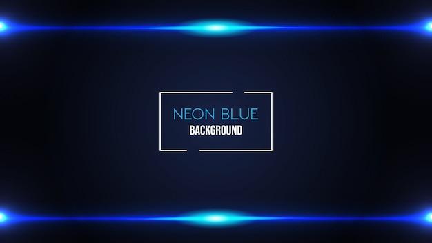 Fundo de cor azul néon Vetor Premium