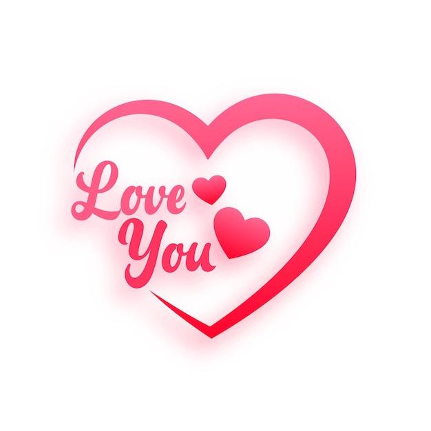 Fundo de corações de mensagem de amor romântico Vetor grátis