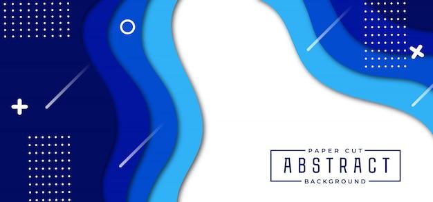 Fundo de corte de papel elegante abstrato Vetor Premium