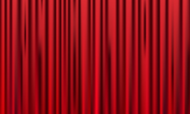 Fundo de cortina vermelha. design de eventos de inauguração. Vetor Premium