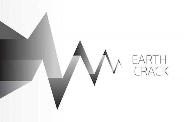 Fundo de crack de terra Vetor Premium