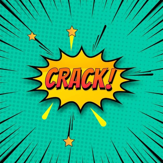 Fundo de crack no vetor colorido de arte pop de estilo cômico Vetor grátis