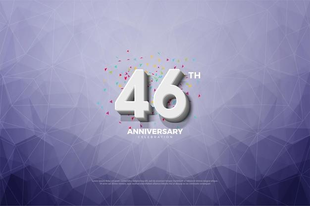 Fundo de cristal da celebração do 46º aniversário Vetor Premium