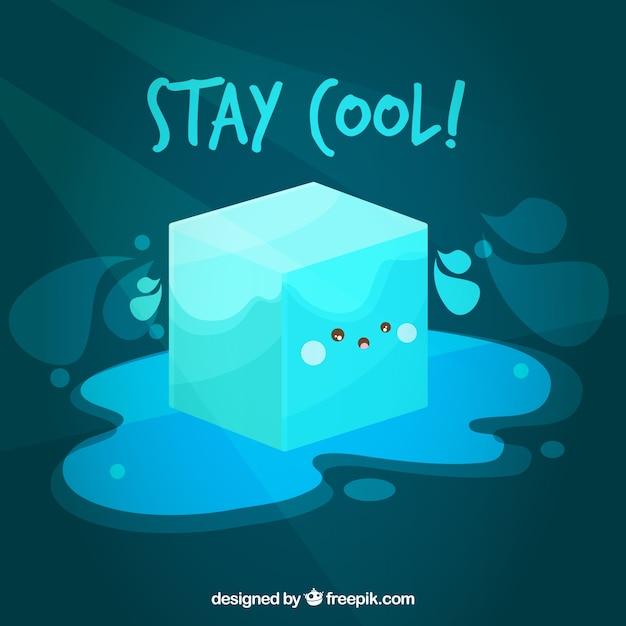 Fundo De Cubo De Gelo Com Desenho Bonito Vetor Gratis