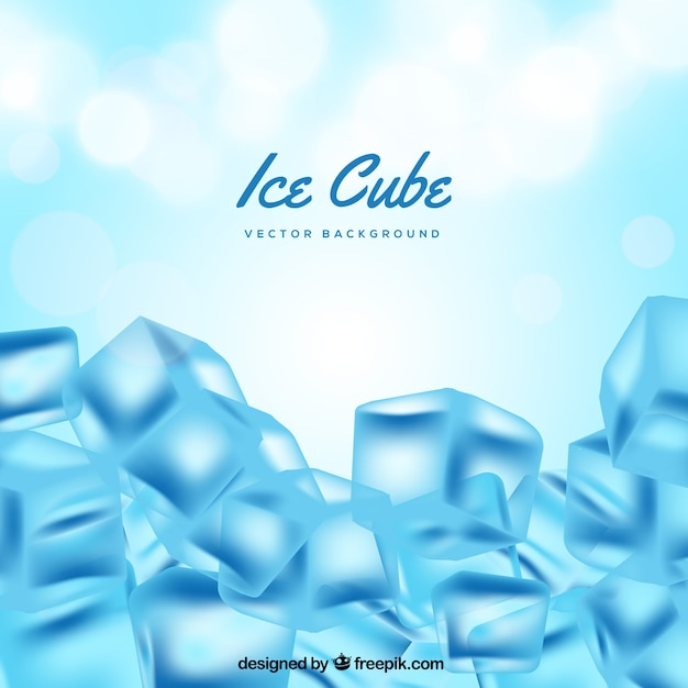 Fundo de cubo de gelo Vetor grátis