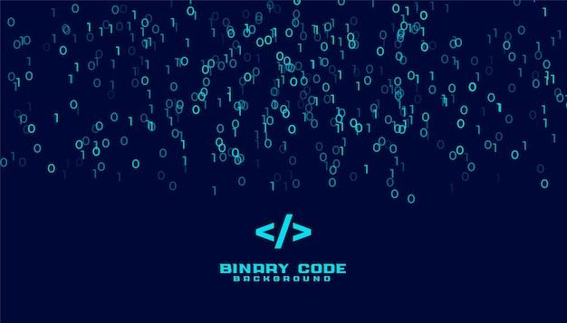 Fundo de dados digitais de algoritmo de código binário Vetor grátis