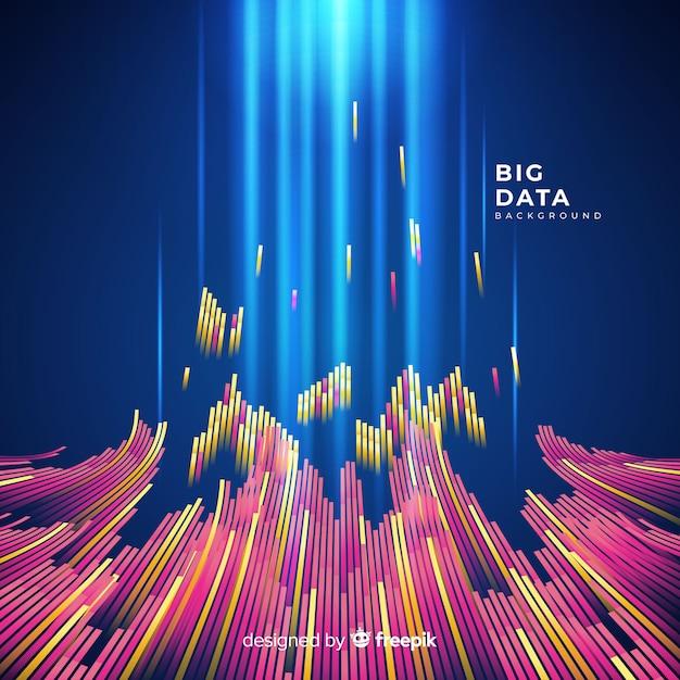Fundo de dados grandes abstrato e brilhante Vetor grátis