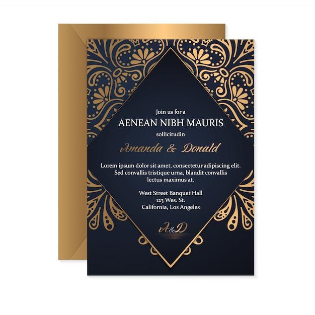 Fundo de design de luxo ornamental mandala na cor ouro Vetor grátis