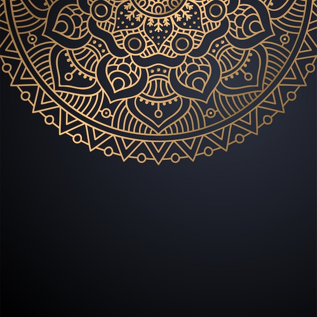 Fundo de design de mandala ornamental de luxo Vetor grátis