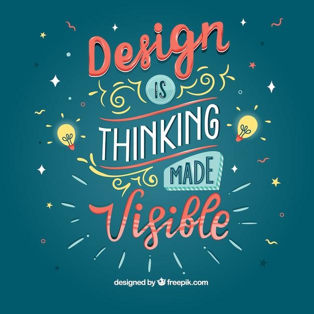 Fundo de design gráfico citação com mensagem inspiradora Vetor grátis