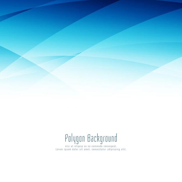 Fundo de design moderno elegante azul polígono Vetor grátis