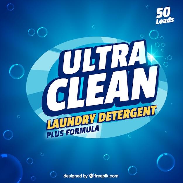Fundo de detergente azul com nova fórmula Vetor grátis