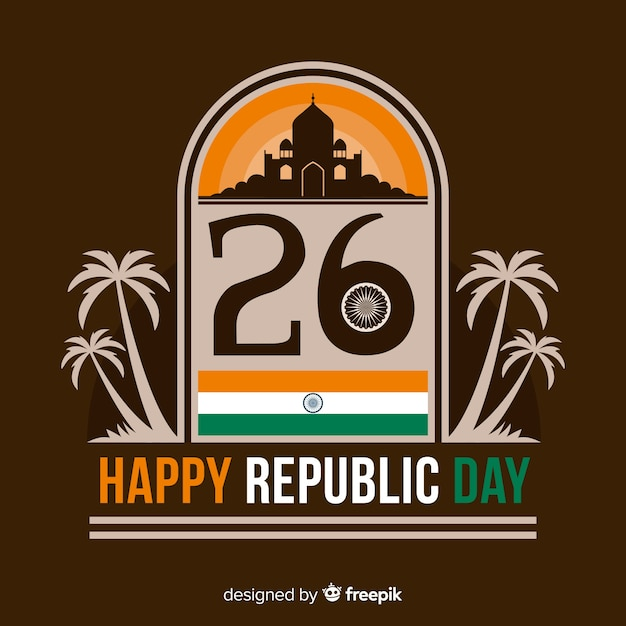 Fundo de dia da república da índia Vetor grátis