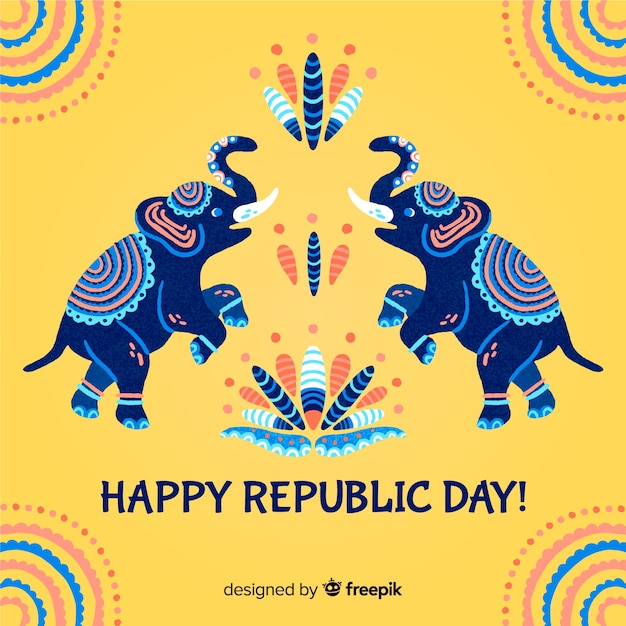 Fundo de dia da república da índia Vetor Premium