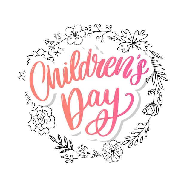 Fundo de dia das crianças Vetor Premium