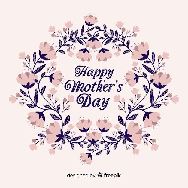 Fundo de dia das mães floral Vetor grátis