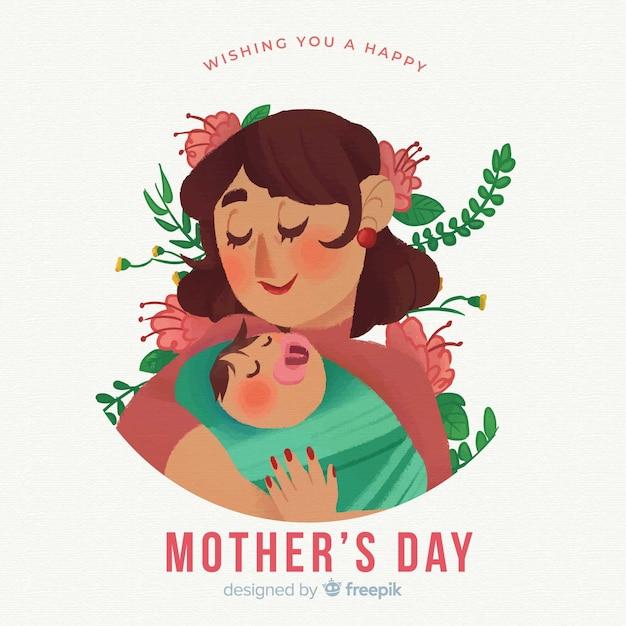 Fundo de dia das mães Vetor grátis
