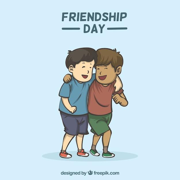 Fundo de dia de amizade com melhores amigas Vetor grátis