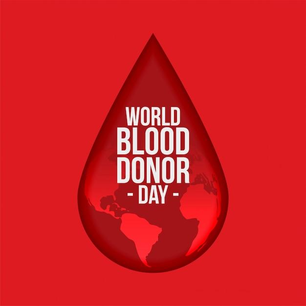 Fundo de dia de doador de sangue do mundo Vetor grátis