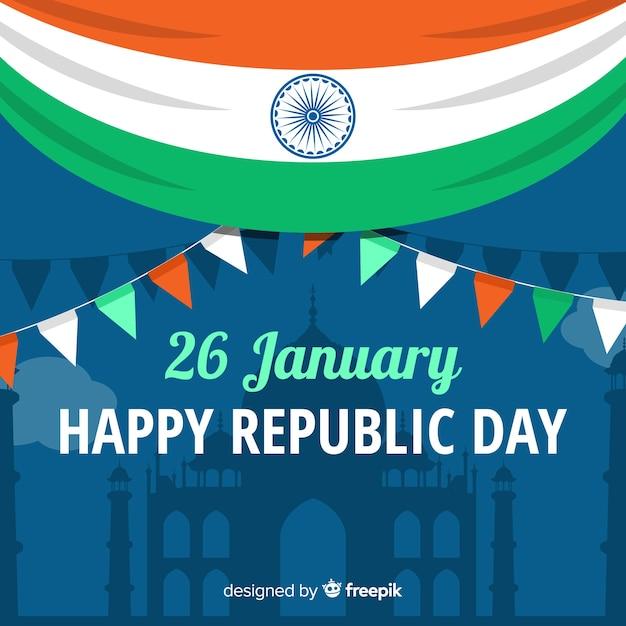 Fundo de dia de república da índia Vetor grátis