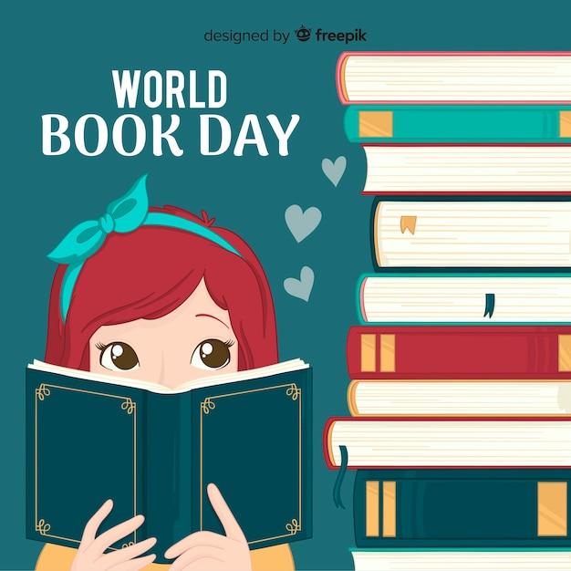 Fundo de dia do livro do mundo Vetor grátis