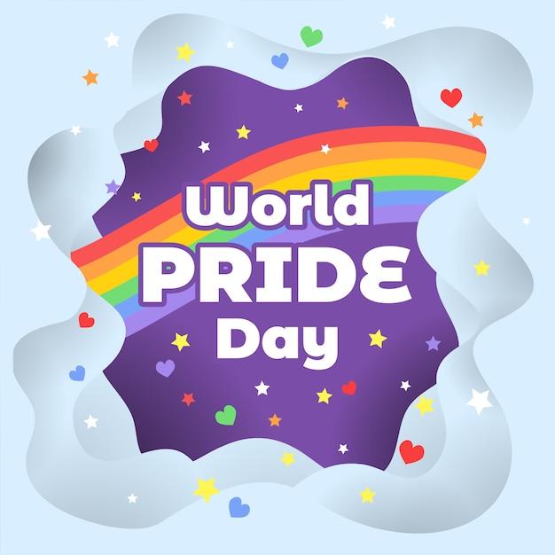 Fundo de dia do orgulho do mundo Vetor Premium