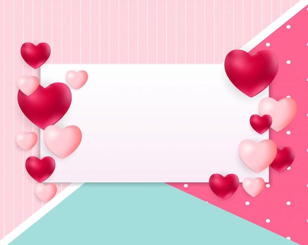 Fundo de dia dos namorados amor com copyspace Vetor Premium