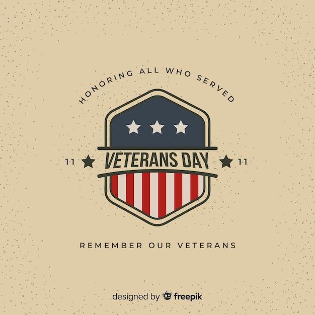 Fundo de dia dos veteranos Vetor grátis