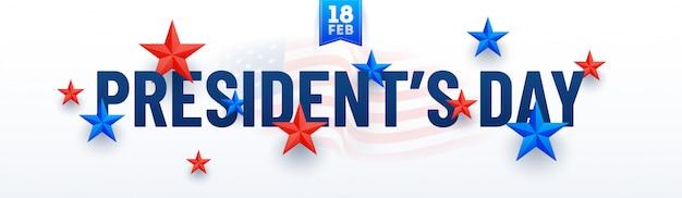 Fundo de dia feliz presidente. Vetor Premium