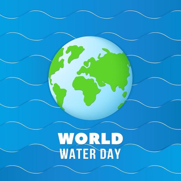 Fundo de dia mundial da água Vetor Premium