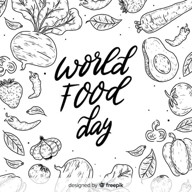 Fundo de dia mundial da comida Vetor grátis