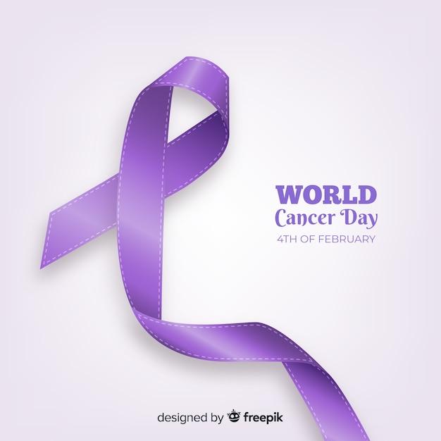 Fundo de dia mundial do câncer realista Vetor grátis