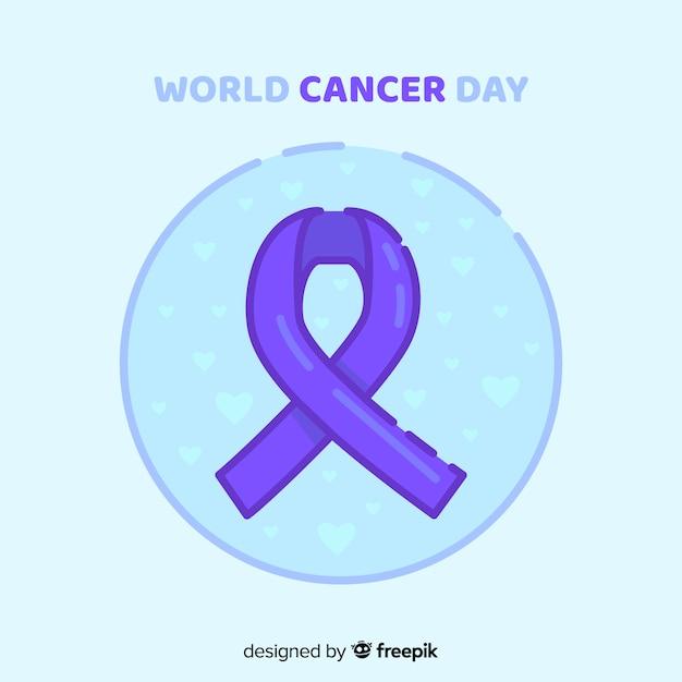 Fundo de dia mundial do câncer Vetor grátis