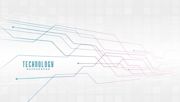 Fundo de diagrama de linhas de circuito de tecnologia abstrata Vetor grátis