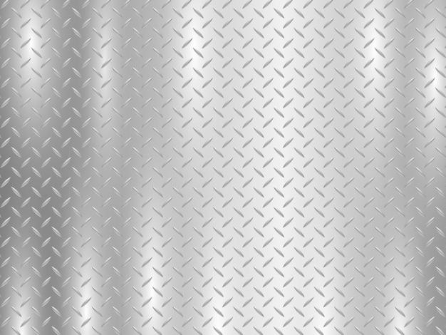 Fundo de diamante de placa de metal Vetor Premium