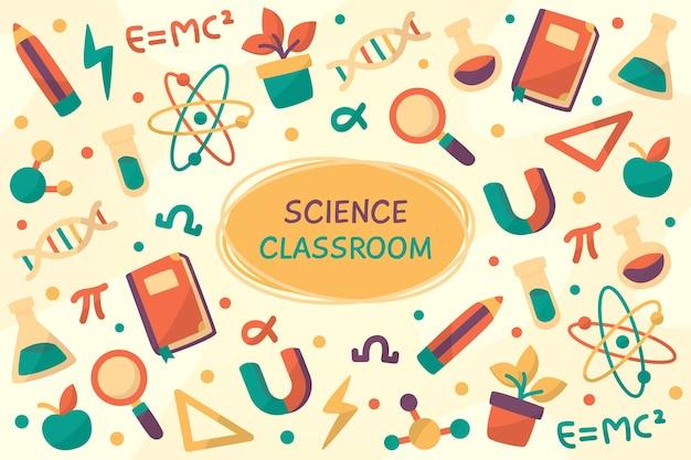 Fundo de educação científica vintage Vetor Premium