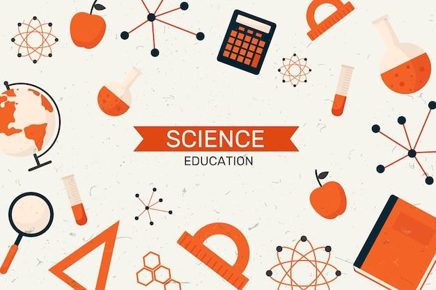 Fundo de educação científica vintage Vetor grátis