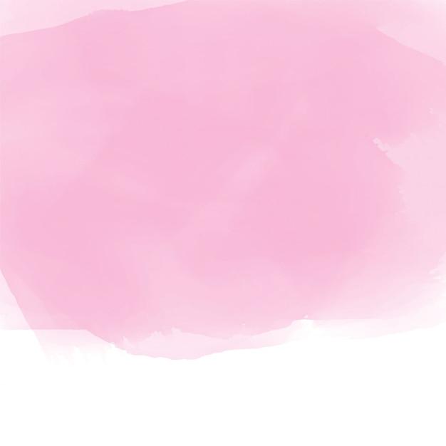 Fundo de efeito aquarela rosa suave Vetor grátis