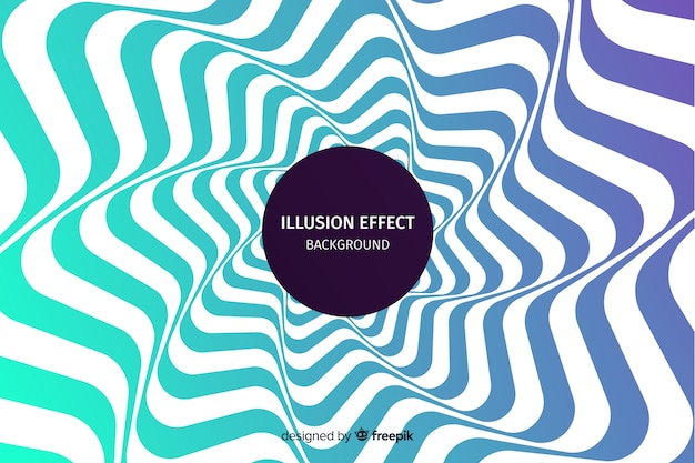 Fundo de efeito de ilusão de ótica gradiente Vetor grátis
