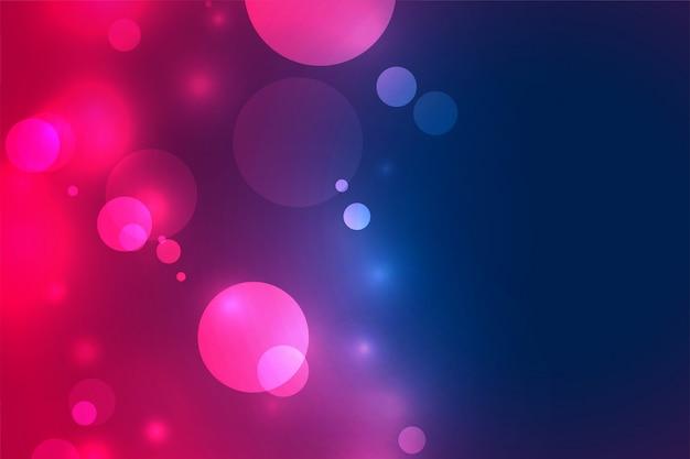 Fundo de efeito de luz borrada bokeh vibrante Vetor grátis