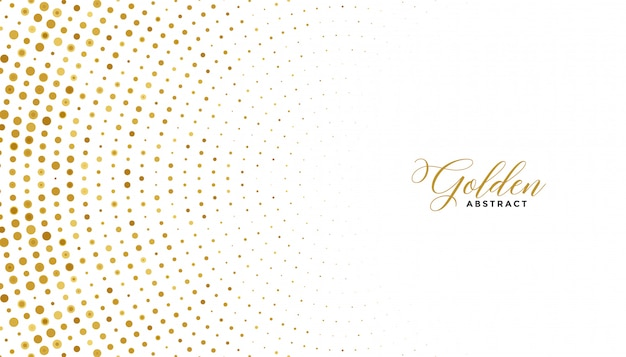 Fundo de efeito de meio-tom branco e dourado Vetor grátis