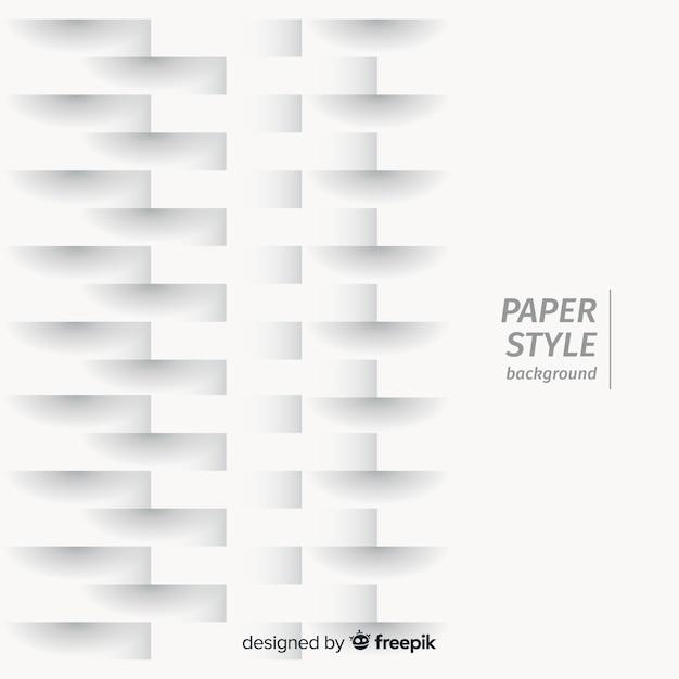 Fundo de efeito de papel realista Vetor grátis