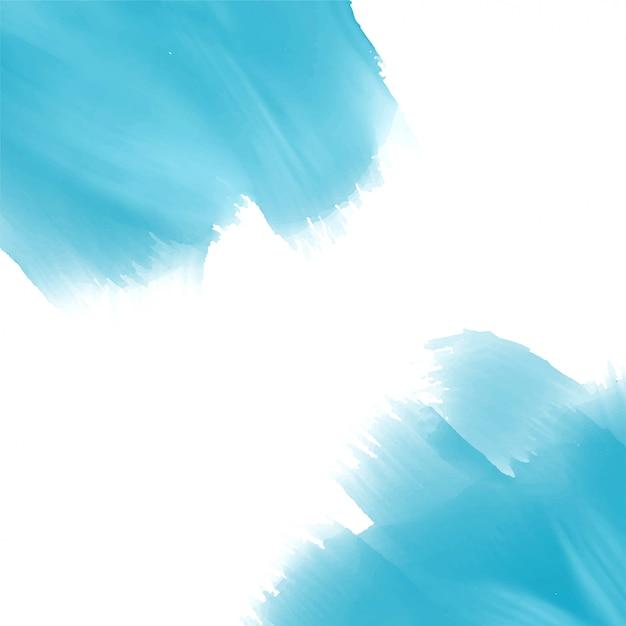 Fundo de efeito de tinta aquarela azul céu Vetor grátis