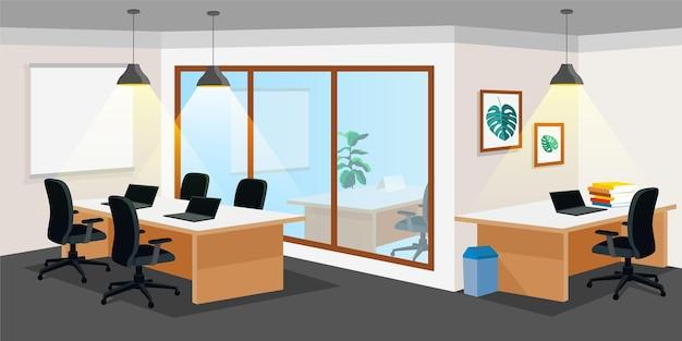Fundo de escritório para videoconferência Vetor grátis