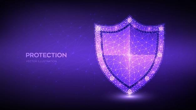 Fundo de escudo de segurança Vetor grátis